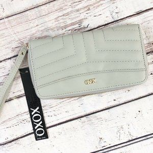 XOXO Gray Wristlet Wallet